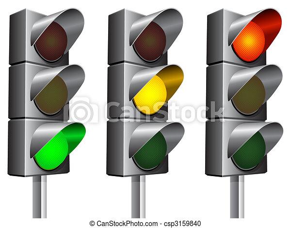 Traffic lights. - csp3159840