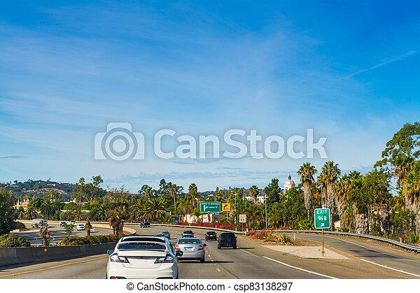 Traffic northbound on 101 freeway - csp83138297