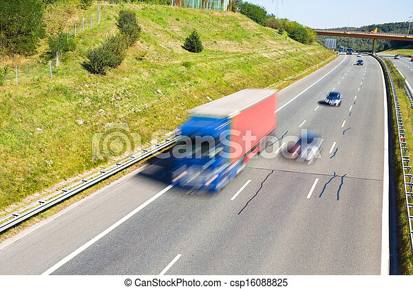 traffic on a highway - csp16088825