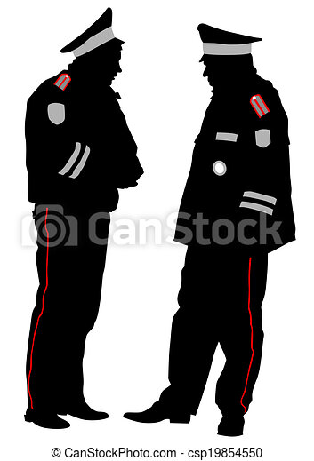 Traffic police officer. Traffic officer in uniform on white background.