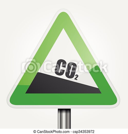 Traffic Sign CO2 - csp34353972