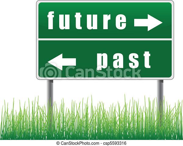 Traffic sign future past. - csp5593316