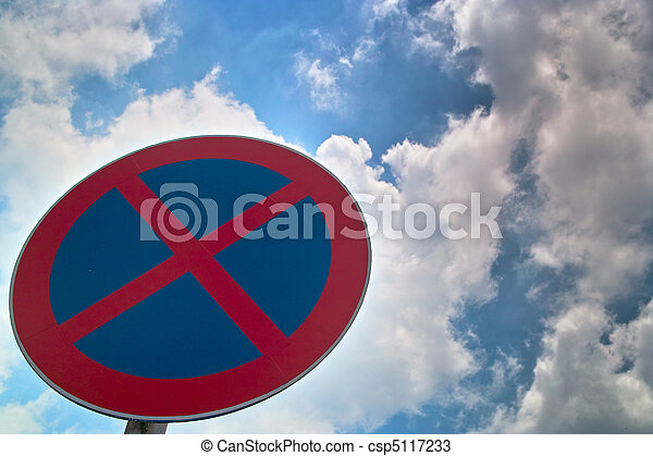 Traffic sign of no stopping - csp5117233