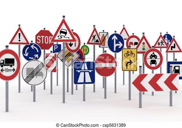 Traffic signs - csp5631389