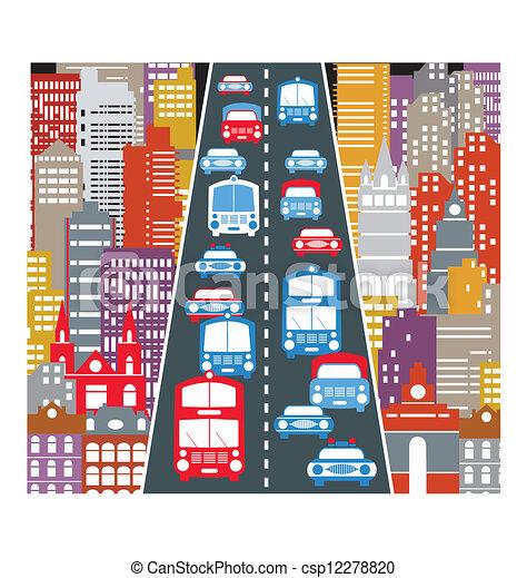 traffico automobile - csp12278820