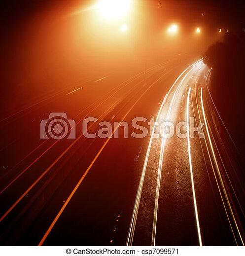 trafic, autoroute - csp7099571