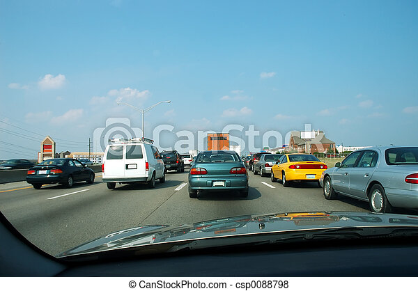 trafic heure pointe - csp0088798