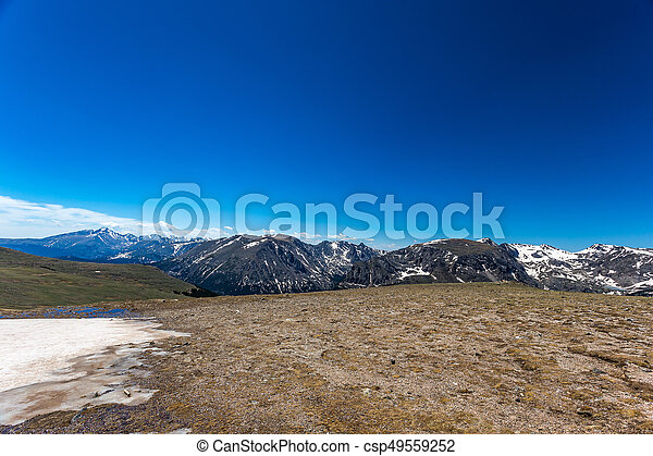 Trail Ridge Road in Rocky Mountain National Park - csp49559252