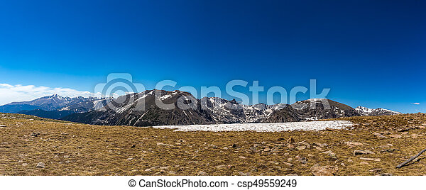 Trail Ridge Road in Rocky Mountain National Park - csp49559249