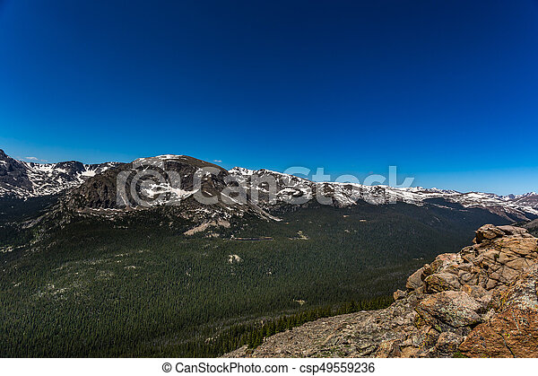 Trail Ridge Road in Rocky Mountain National Park - csp49559236