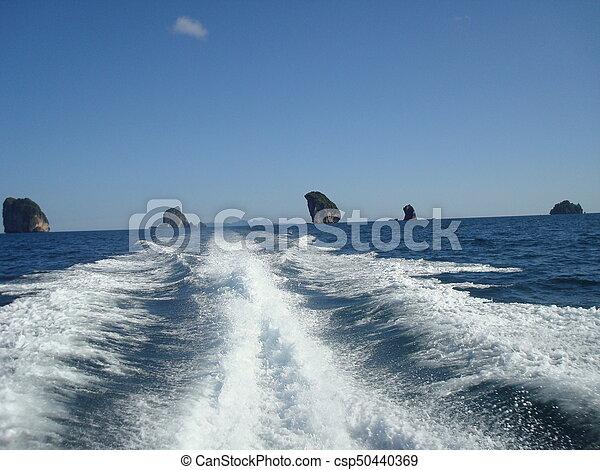 Trails in the sea - csp50440369