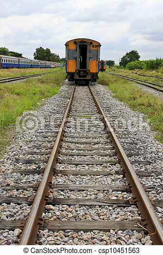 Train and railway rail - csp10451563