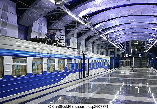 Train at metro station - csp2607371