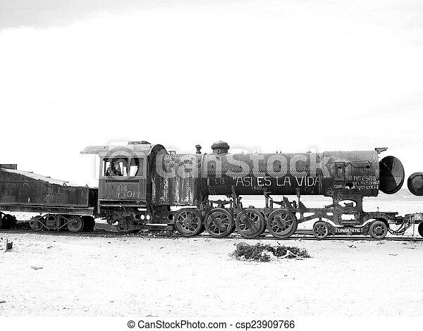 Train cemetery - csp23909766