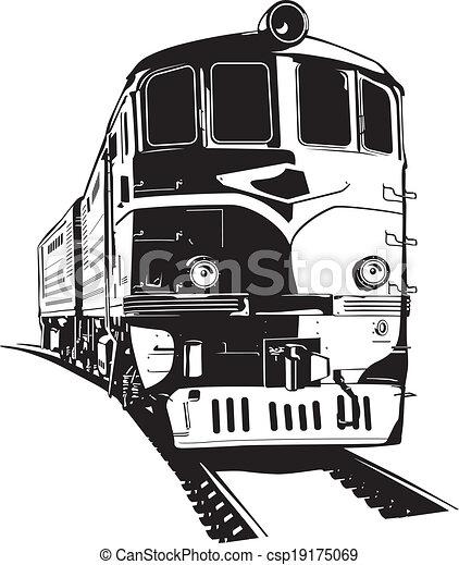 train vector illustration of a diesel locomotive rh canstockphoto com train victoria to brighton train victoria to gatwick