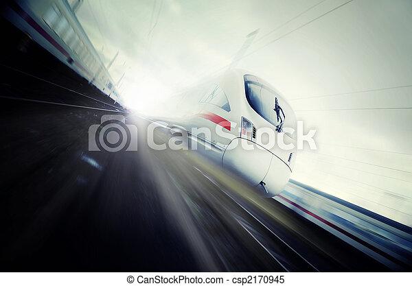 train, en mouvement, jeûne - csp2170945