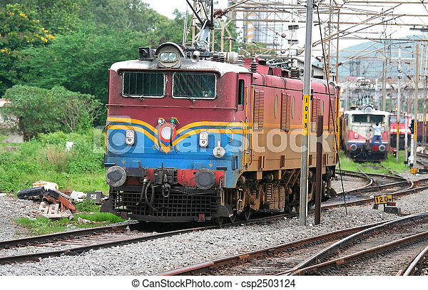 train engine electrical train engines at a junction station in india