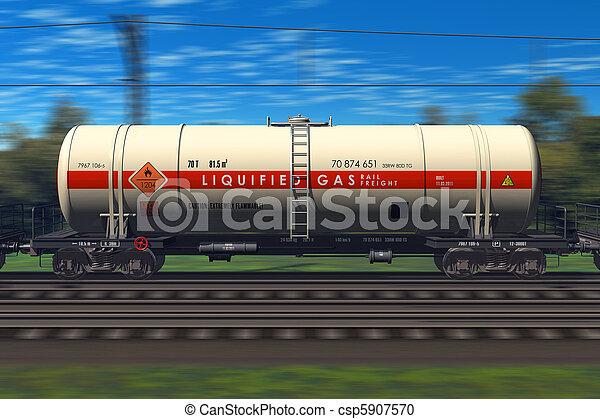 train, essence, pétrolier, fret - csp5907570
