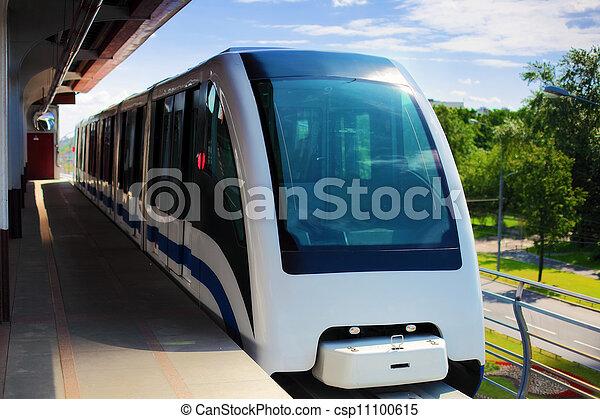 train ferroviaire, monorail, jeûne - csp11100615