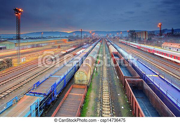 Train Freight transportation platform - Cargo transit - csp14736475