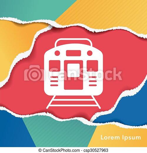 train icon - csp30527963