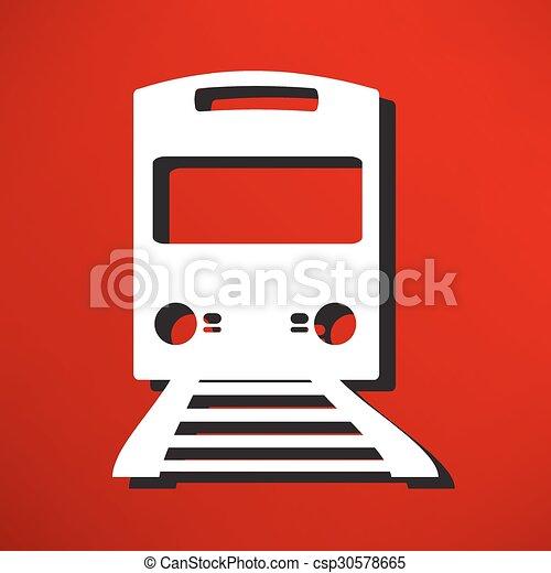 Train Icon - csp30578665