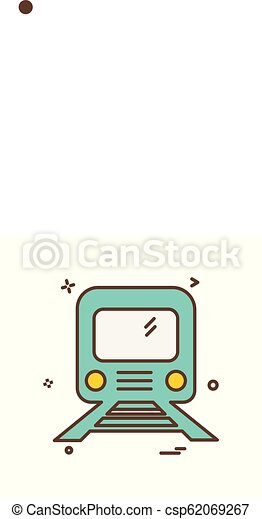 Train icon design vector - csp62069267