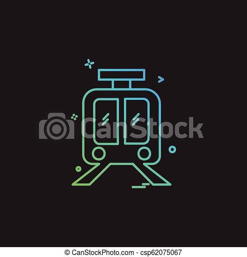 Train icon design vector - csp62075067