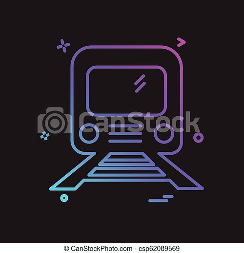 Train icon design vector - csp62089569