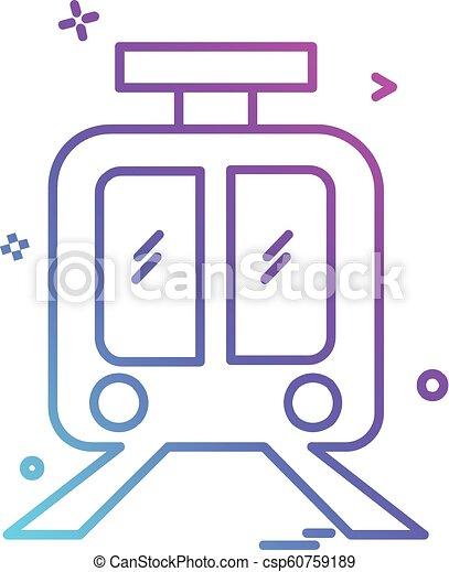 Train icon design vector - csp60759189