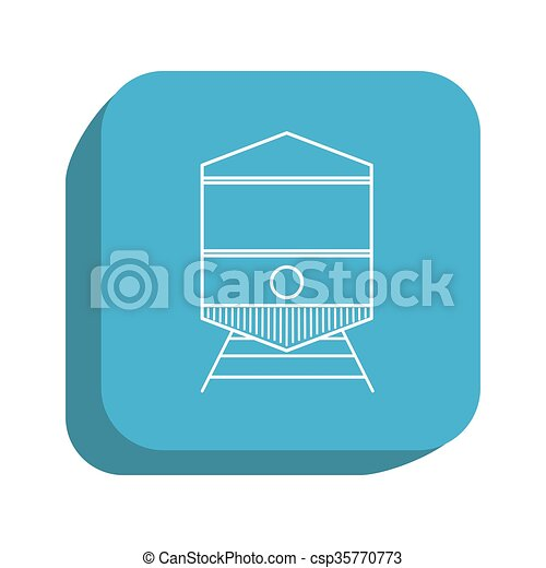 train icon design, vector illustration - csp35770773