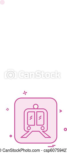 Train icon design vector - csp60759427