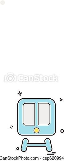 Train icon design vector - csp62099475