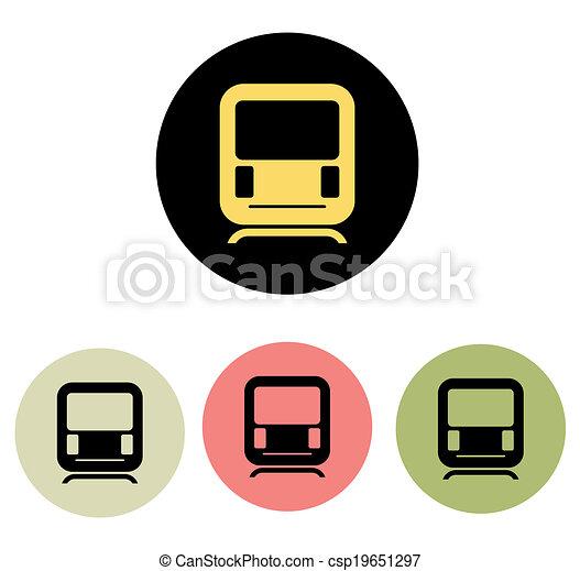 Train icon - csp19651297