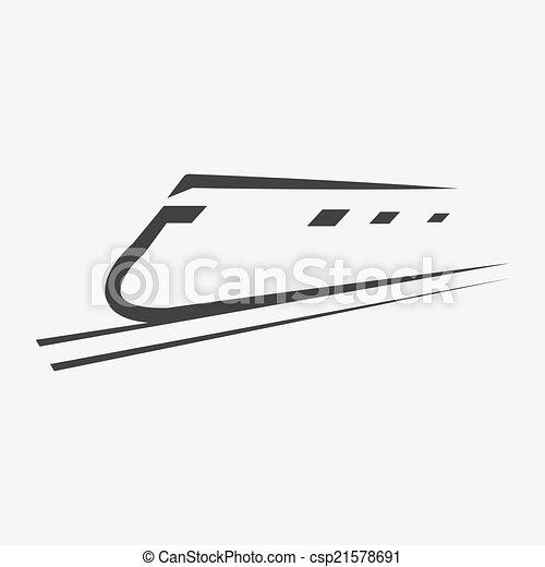 Train icon - csp21578691
