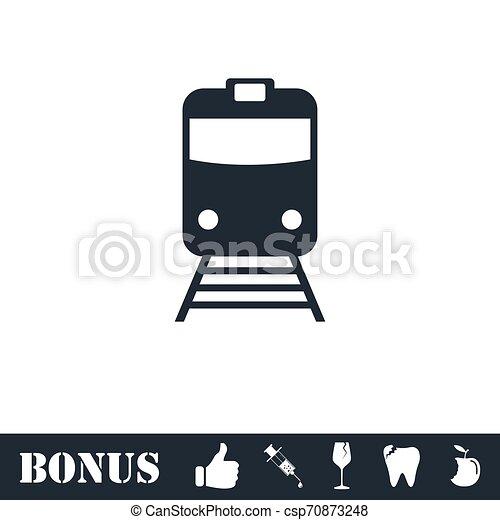 Train icon flat - csp70873248