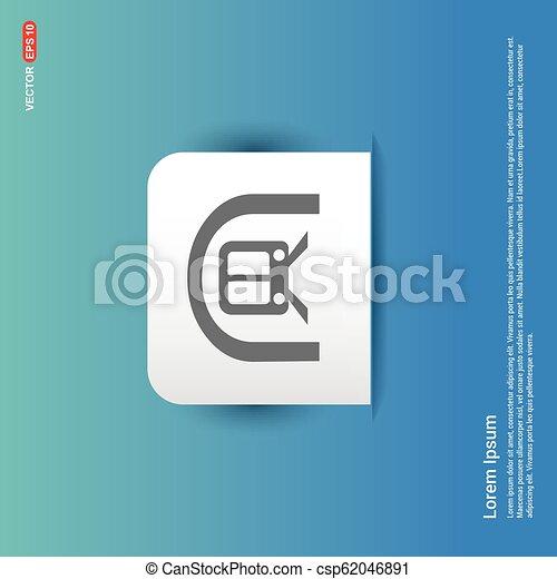 Train Icon. Traffic sign icon - Blue Sticker button - csp62046891