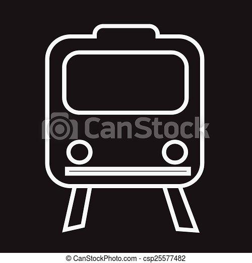 Train Icon ,  train,  transportation icon - csp25577482