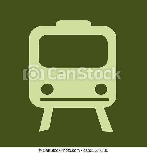 Train Icon ,  train,  transportation icon - csp25577530