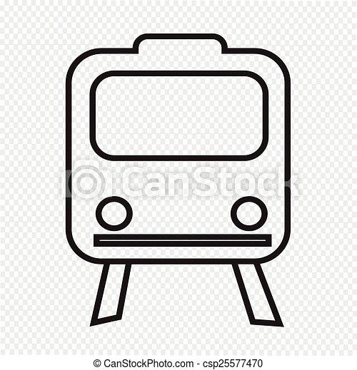 Train Icon ,  train,  transportation icon - csp25577470
