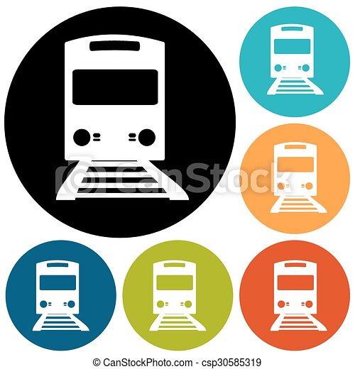 Train Icon - csp30585319