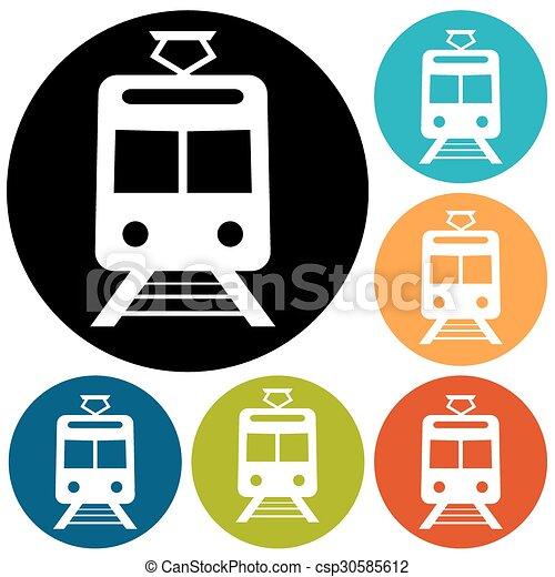 Train Icon - csp30585612