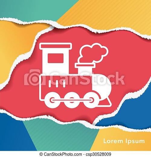 train icon - csp30528009