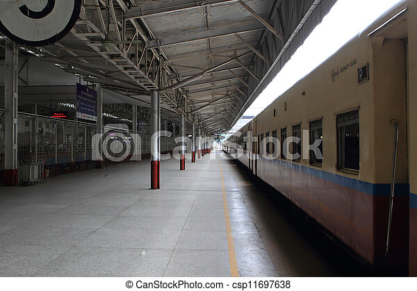 Train in Yangon, Burma - Myanma - csp11697638