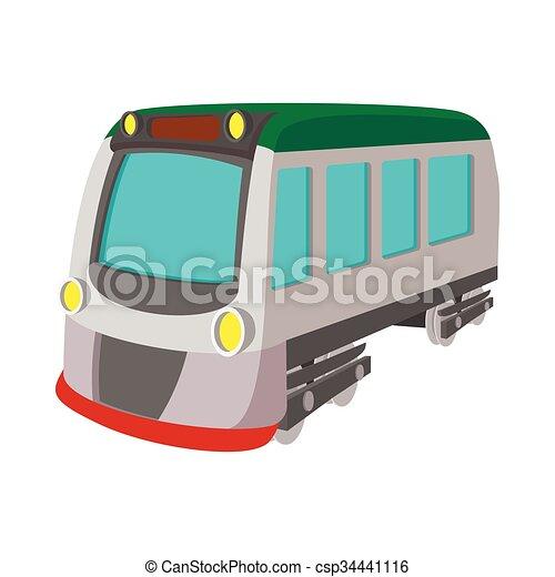 Train locomotive transportation railway icon - csp34441116