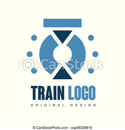 Train Logo Original Design Railway Railroad Transport Emblem