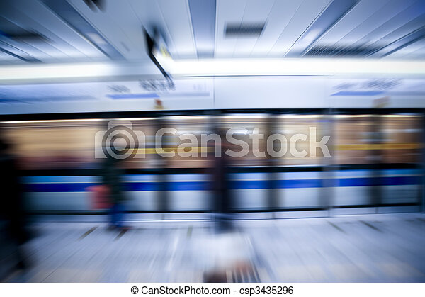 train motion blur - csp3435296