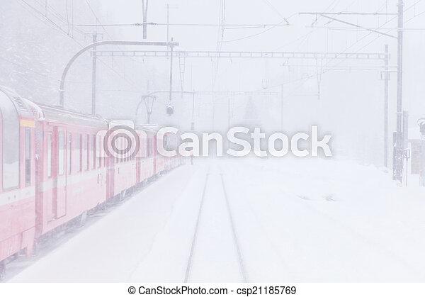 train, neige - csp21185769