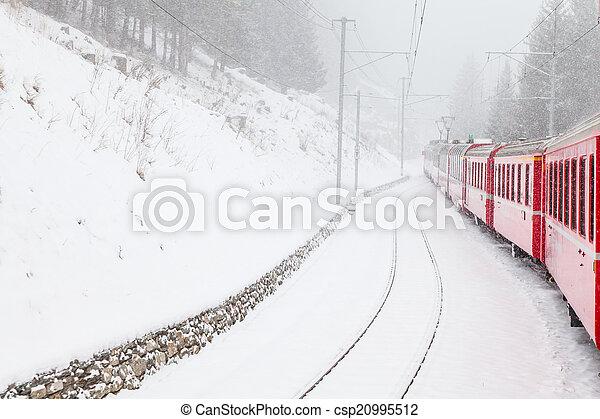 train, neige - csp20995512