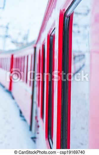 train, neige - csp19169740